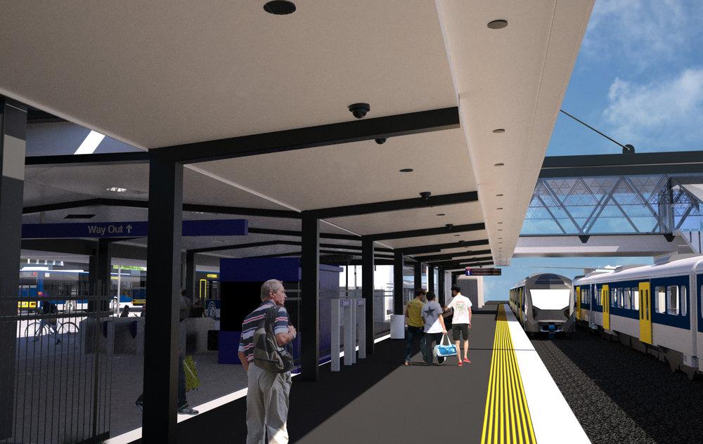 SOUTH: Proposed southern platform at Otahuhu
