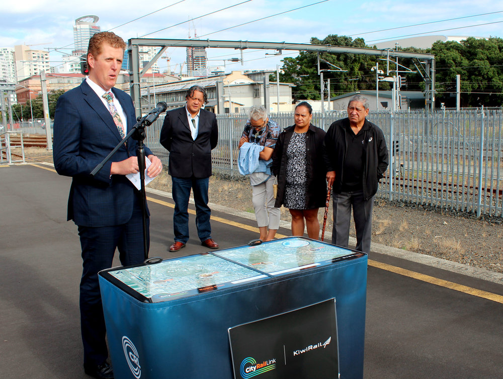 KIWIRAIL: Acting Chief Executive, Todd Moyle at the ceremony at the Strand