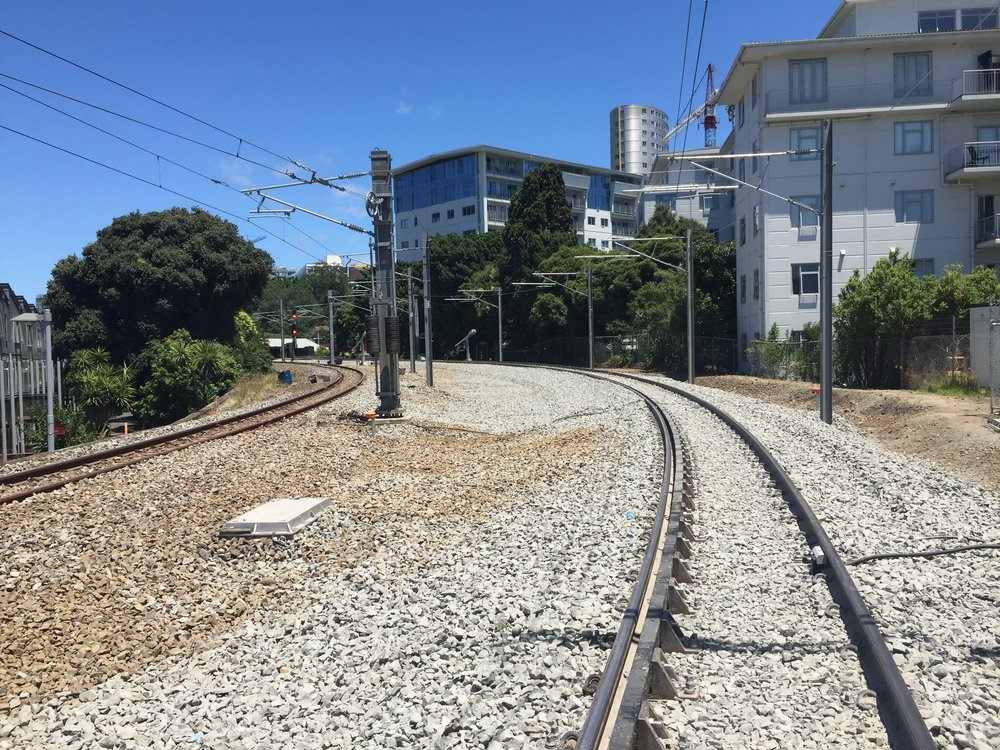 View of new track layout at the Strand