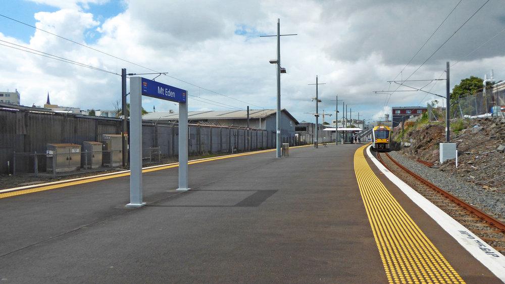 WALKWAY: The walkway to Mount Eden station platform