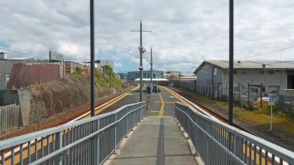 PRESENT: Mt Eden station platform