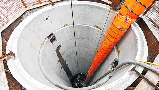 A caisson shaft