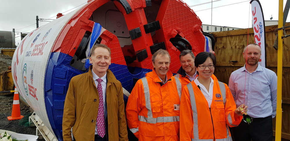 CRL: The CRL team at the ceremony (from left) - CRLL CEO Dr Sean Sweeney, Roly Frost, Jonathan Dudman, Jenny Chu and Scott Elwarth.