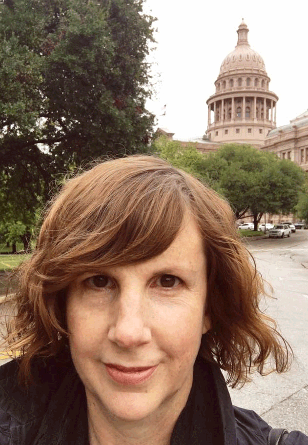 Jacquie at the Capitol of Texas