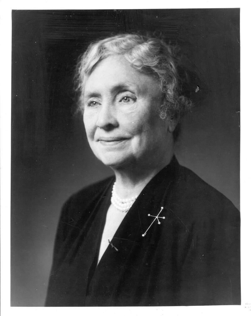 Helen Keller.  Jan 5, 1950