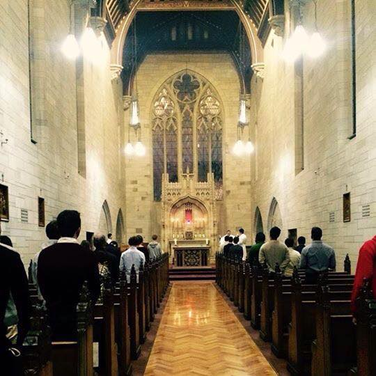 Photo of Assumption Day Mass (2016), Chapel of the Holy Ghost at Newman College -made available by University of Melbourne Catholic Society