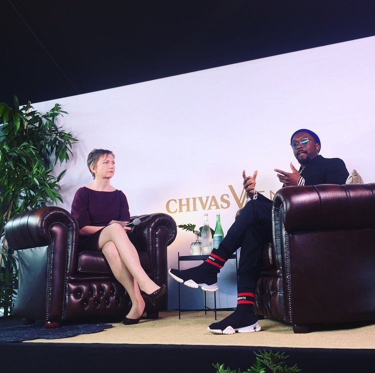 Inteviewing Will.i.am at The Next Web