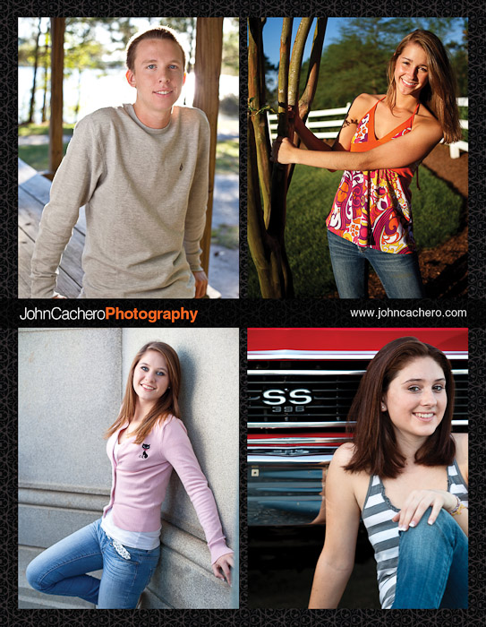John Cachero Photography Senior Portrait Ad