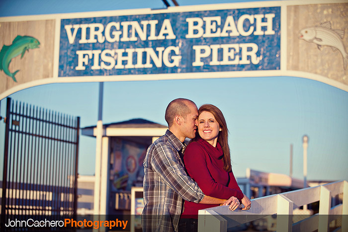 Virginia Beach Engagement Portrait Photograph - Leah & Scott