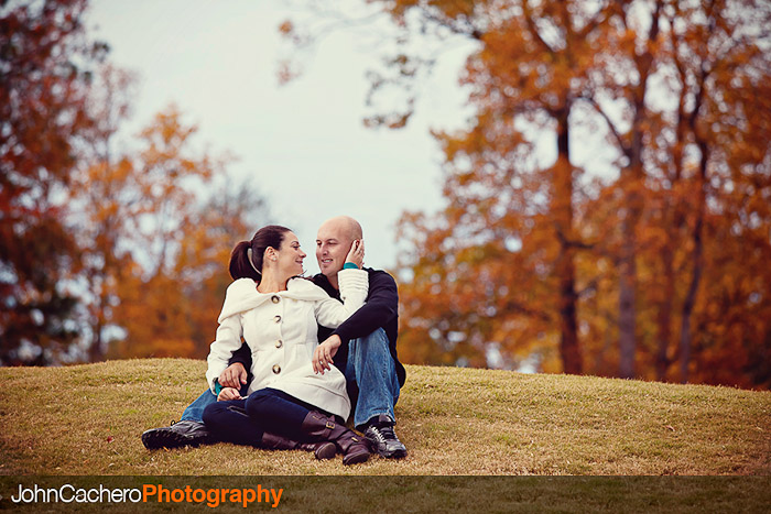 Suffolk Virginia Engagement Portrait Photograph - Molly & Mike