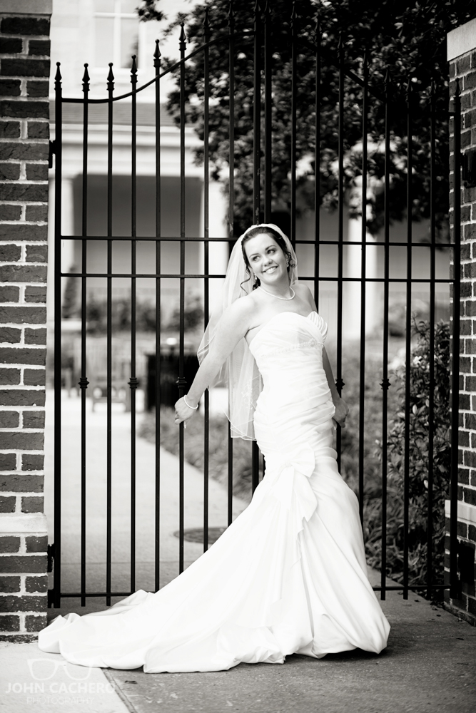 Chrysler Museum Norfolk Virginia Bridal Portrait Photograph by John Cachero Photography