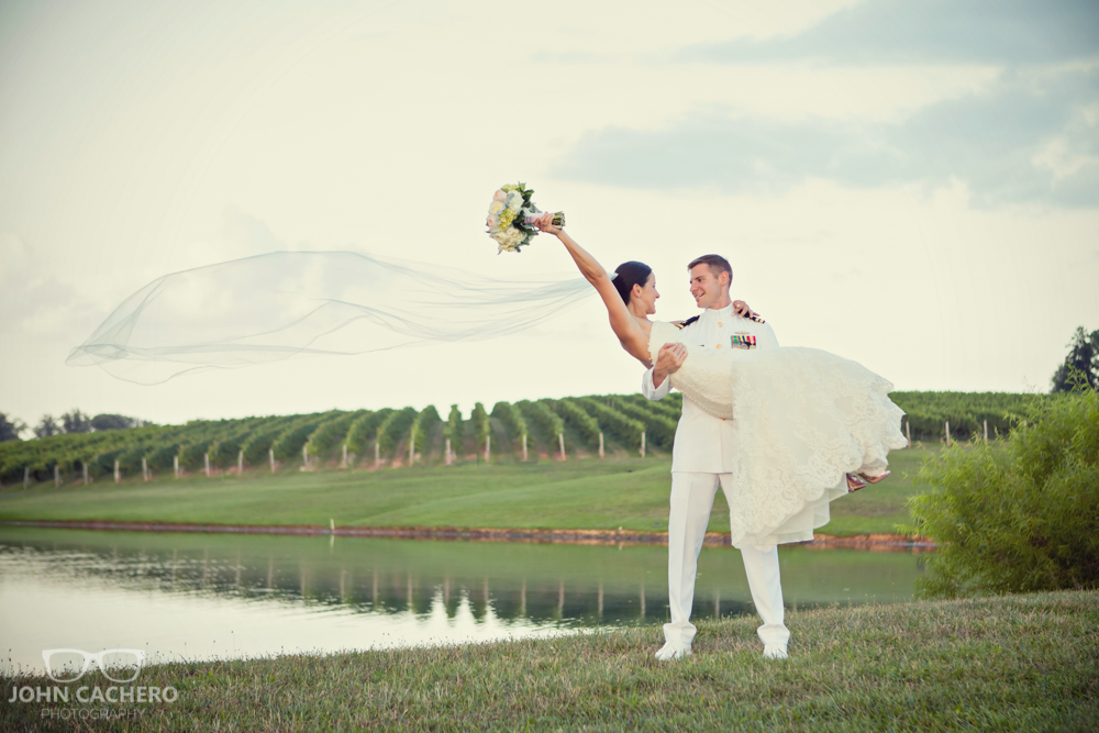 Keswick Vineyards Charlottesville Virginia Wedding Photography by John Cachero Photography