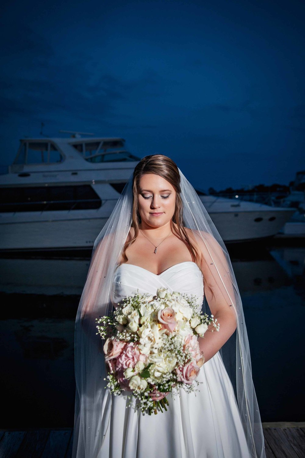Marina Shores Wedding Photograph - Virginia Beach - Sarah And Matthew - by John Cachero for Ross Costanza Photography