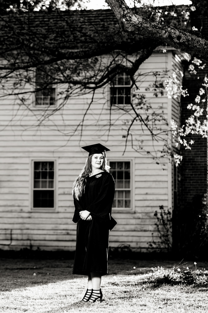 Old Dominion University Graduation Portrait Photograph at the Chesapeake Arboretum - Brittany B.