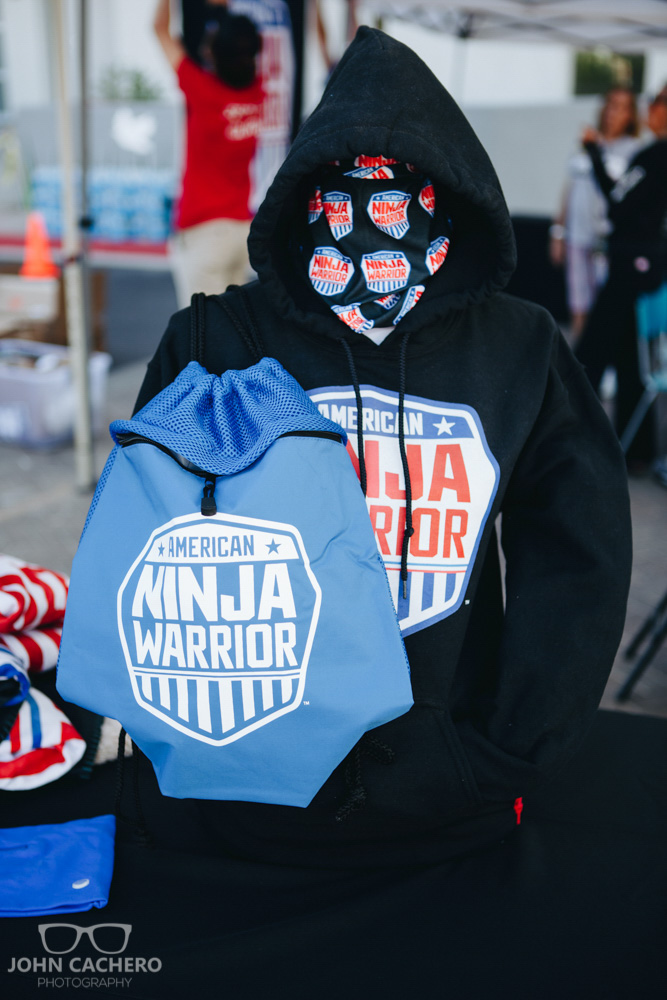 American Ninja Warrior gear was given away for free at this event.