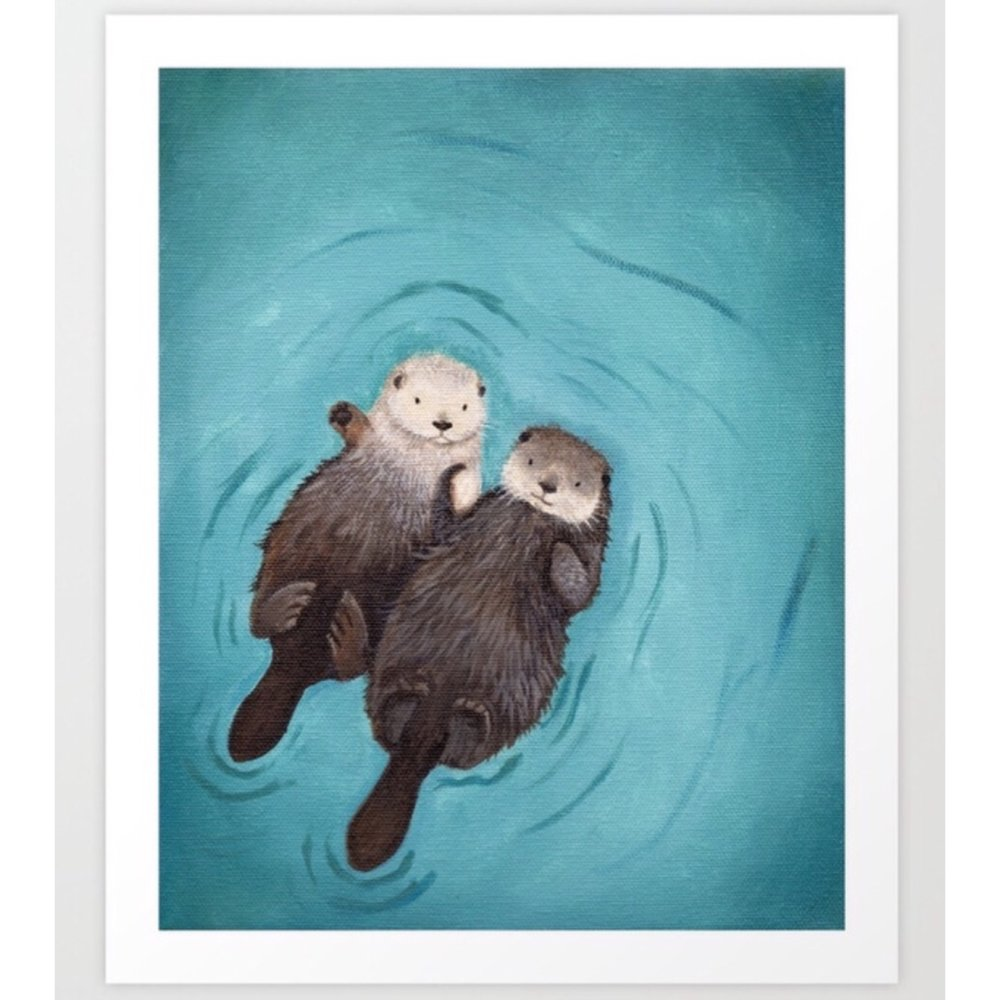 The cutest couple in town deserve the cutest illustration in town...otterly adorable