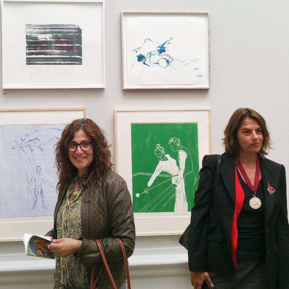 nadia attura tracey emin royal academy with our work above our heads.jpg