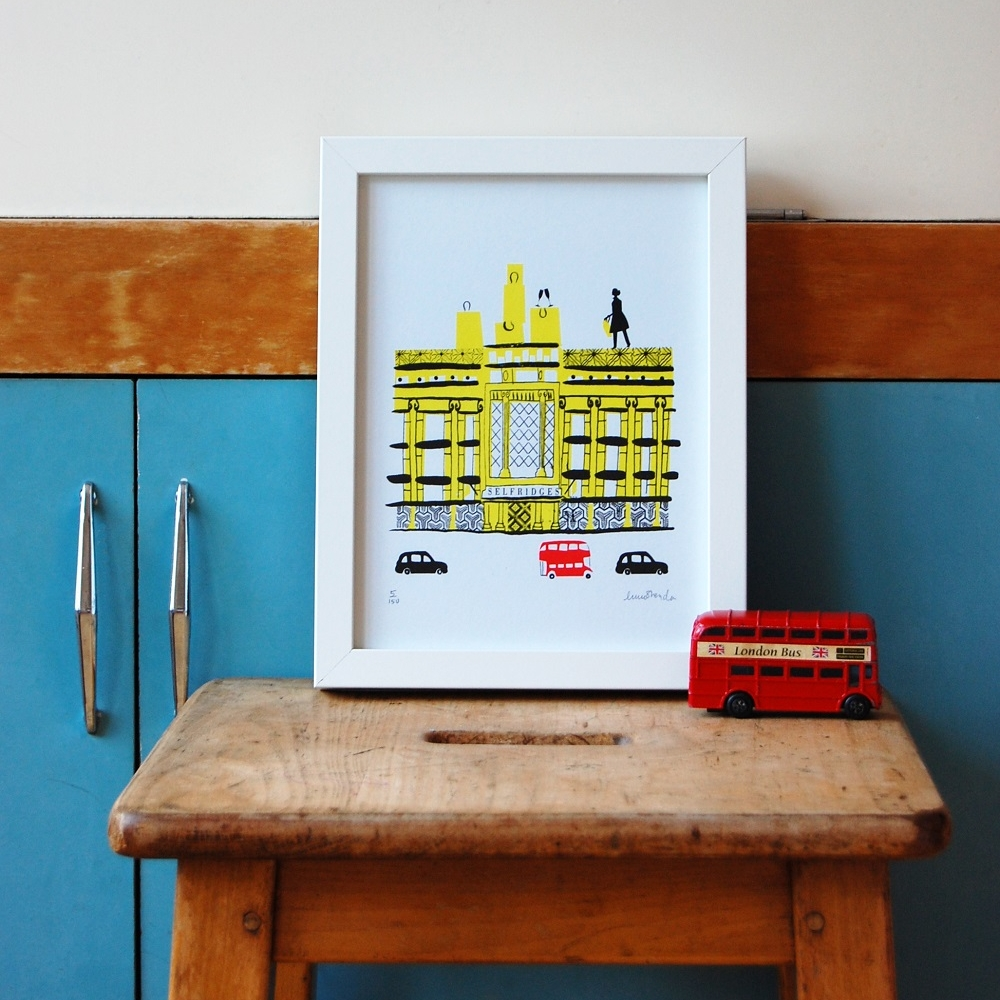 Shopping at Selfrides,limited edition screen print, £42 unframed.low res jpg.jpg