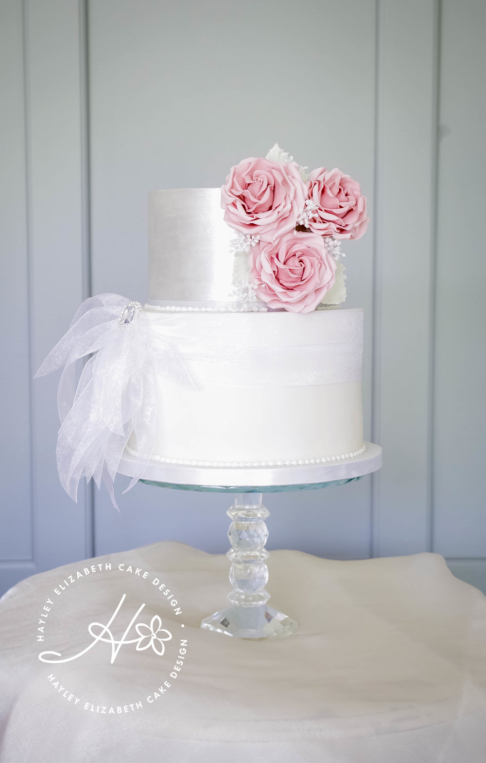 two tier wedding cakes with roses gallery hayley elizabeth cake design 21373