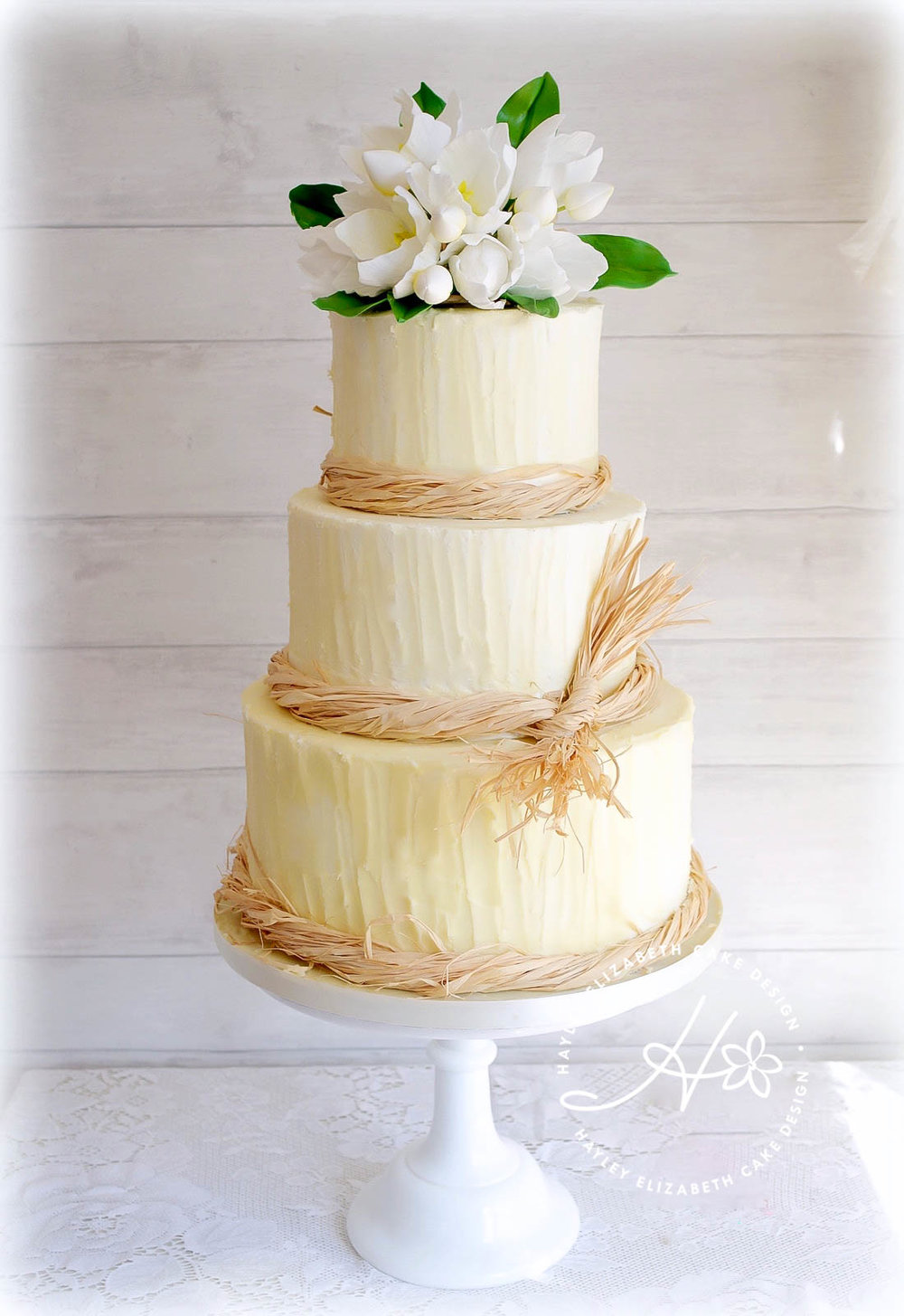 buttercream rustic  wedding cake with tulips.jpg