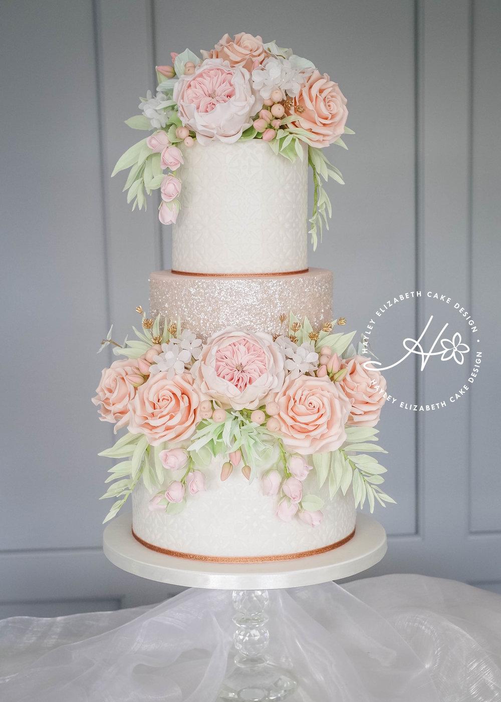 ricepaper and glitter flower cake-10.jpg