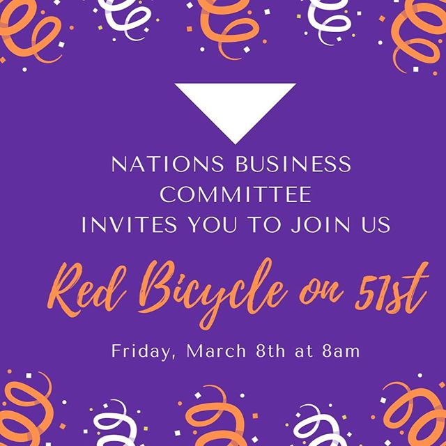Great to meet with the business committee this morning — we're excited to invite other business owners/representatives to join us Friday March 8th at 8am at Red Bicycle on 51st as we start our parade of businesses in The Nations. #thenations615