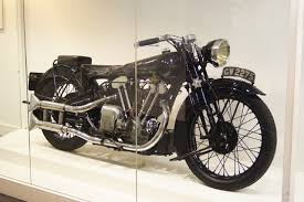 Lawrence's beloved Brough motorcycle.