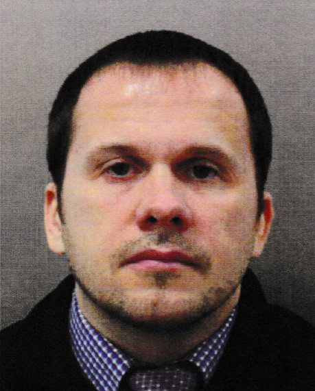 An image of a person called Alexander Petrov, taken from a 2016 passport, and released by British police in the aftermath of the Salisbury poisonings.
