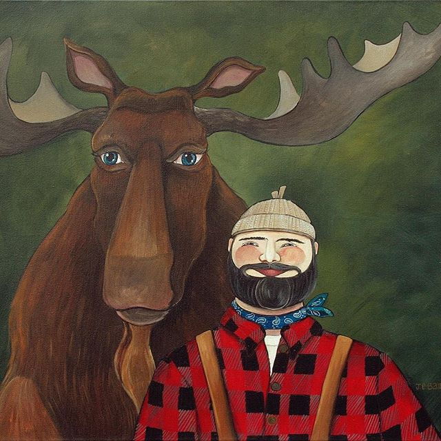 Happy Lumberjack Day! We pencil & paper & painting artists couldn't do what we do without you!!! Thanks for all of your hard work ❤️#lumberjackday #madeincanada #whimsicalart #lumberjack #forest #forester #chainsaw #canadiangirl #canadiannorthman #canadianart #tree #trees #canadiancreatives #artistoninstagram #artistsoninstagram