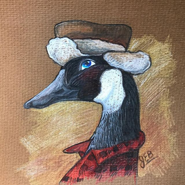 I LOVE PENCIL CRAYONS! How about you? #pencilcrayon #prismacolor #goose #artistsoninstagram #canadianart #canadiantuxedo #plaid#bushjacket #cottagelife #whimsical #animalsofinstagram #animalart #happyart
