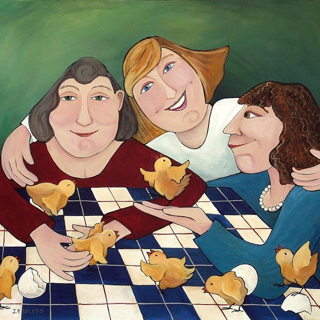 Anytime Is A Good Time For Chicks Night Out. Happy International Women's Day to all the remarkable, tenacious and inspiring women out there. Together we are stronger. #halfthesky #internationalwomansday #chicksnightout #girlpower #girlfriend #girlfriends#togetherwerestronger #whimsical #whimsicalart #womenartists #artists