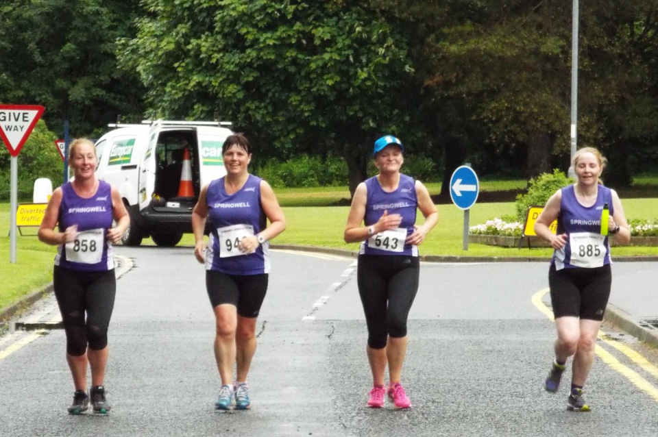 Springwell RC's Elaine Montgomery, Catherine Byers, Lorraine Abernethy and Emer Thompson