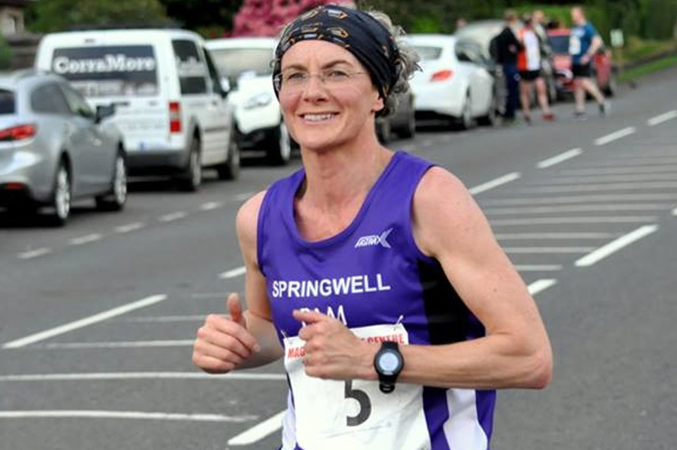 Pam Howe at the Maghera 10k (photo Richard McLaughlin)