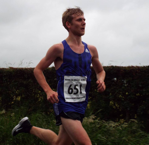 Andrew Annett (North Belfast Harriers) Winner of the 37th Jude Gallagher Memorial Round the Bridges.