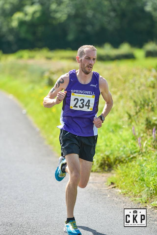 Springwell RC's Steven McAlary at the Cookstown Half Marathon (Photo Ciaran Kelly)