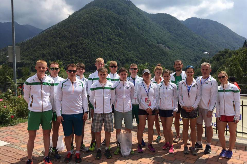 Team Ireland at the World Mountain Running Championships in Premana, Italy