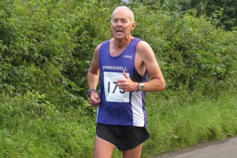 Springwell RC's Hugh Deighan at the Broughshane 5 & 10k
