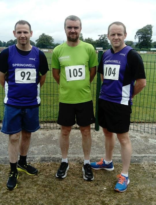 Springwell RC's Martin Smith, Timothy Bacon and Noel Harkin.