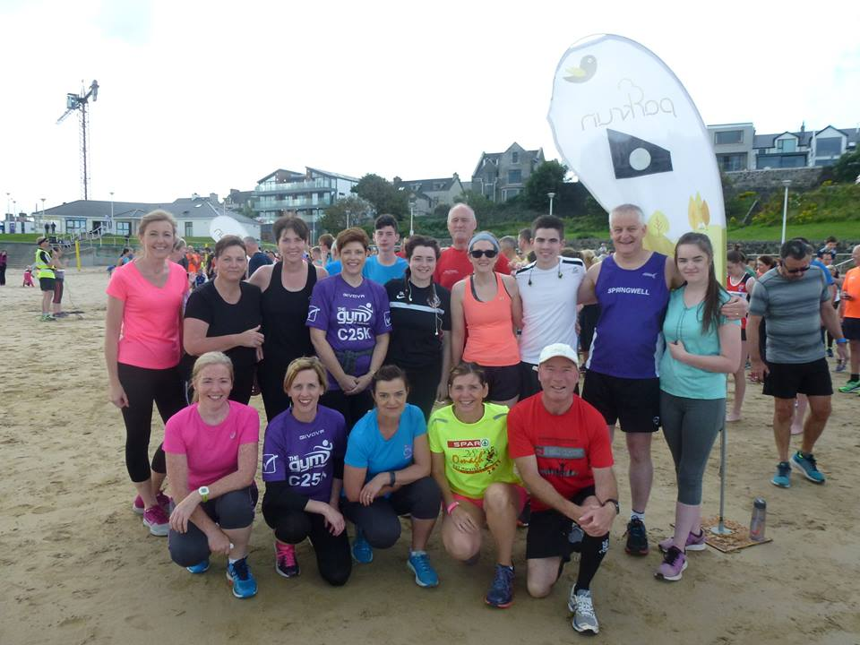 Springwell RC's Garvagh runners at the Portrush Parkrun