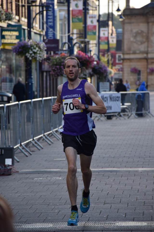 Springwell RC's Steven McAlary at the Edwin May Nissan 5 Mile Classic (photo by Alan Hamilton)