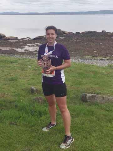 Springwell RC's Nicola Frizelle 2nd lady at the Extreme North Quadrathon Half Marathon Event