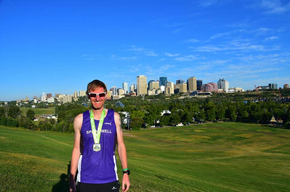 Springwell RC's Simon Stewart at the Edmonton Half Marathon