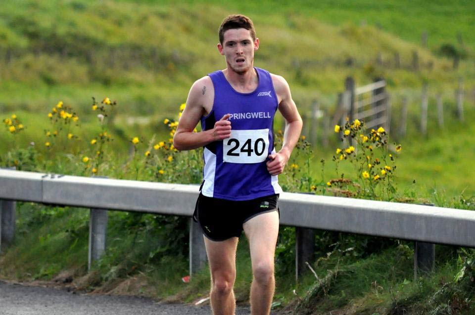 Springwell RC's Jonathan McKee at the Portrush 5 Mile Road Race (Photo Richard McLaughlin)