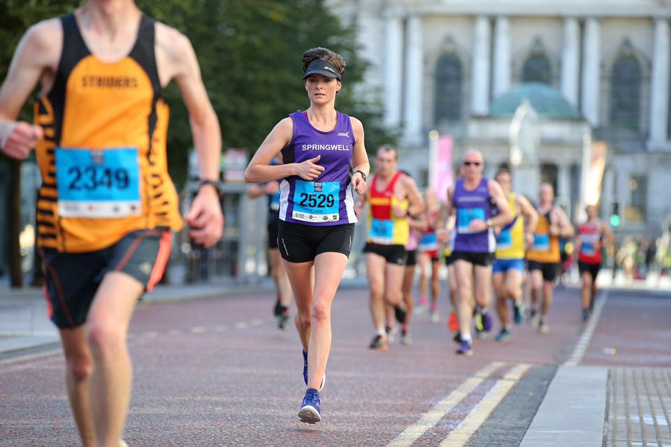 Springwell RC's Ciara Toner at the Belfast City Half Marathon