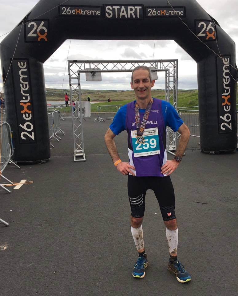 Springwell RC'c Chris Denton, winner of the 26 extreme Causeway Marathon (photo NIRunning)