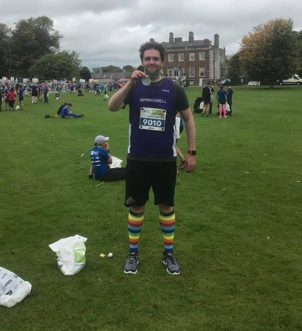 Springwell RC's Andrew Kincaid at the Dublin Half Marathon