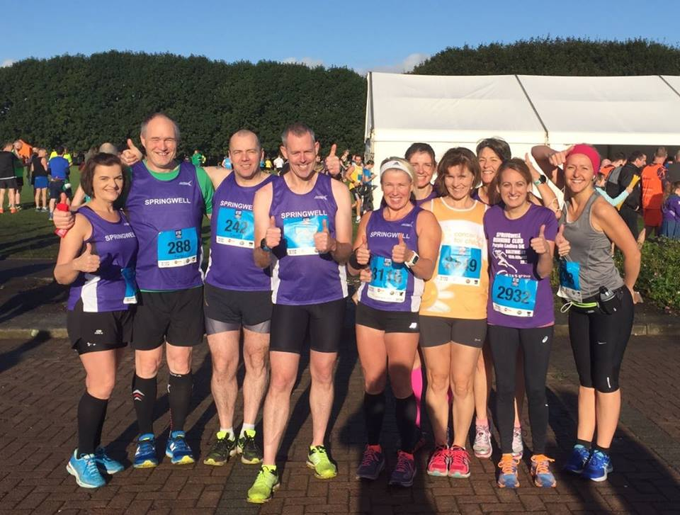 Just some of Springwell RC's Garvagh Training Group at the Belfast Half Marathon
