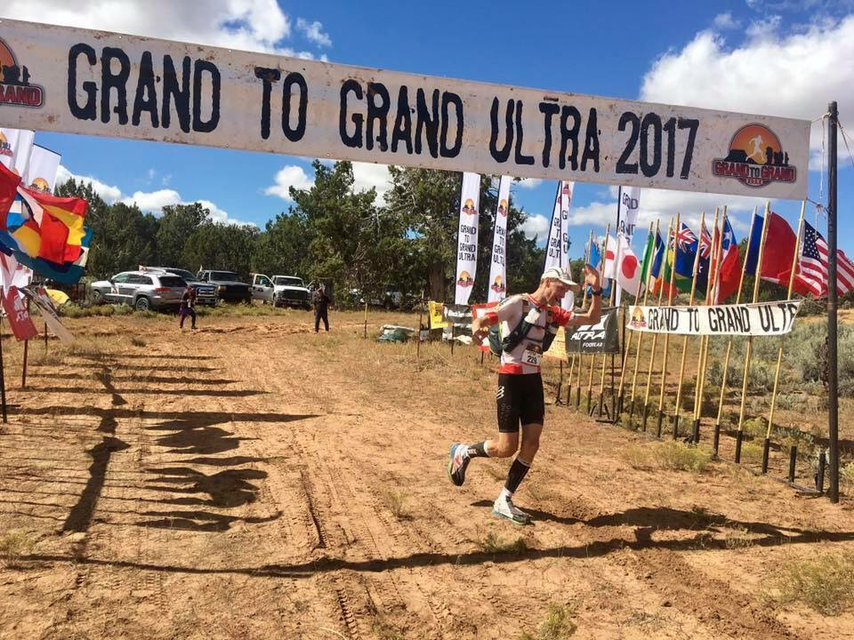 Peter Cromie finishing Stage 4 of the Grand to Grand Ultra