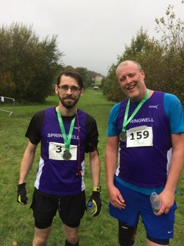 Springwell RC's Will Colvin and Steven Miles at the East Donegal Half Marathon