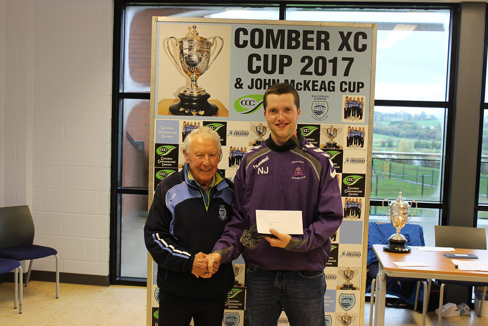 Springwell RC's Neil Johnston, winner of the Comber Cup Cross Country Event.
